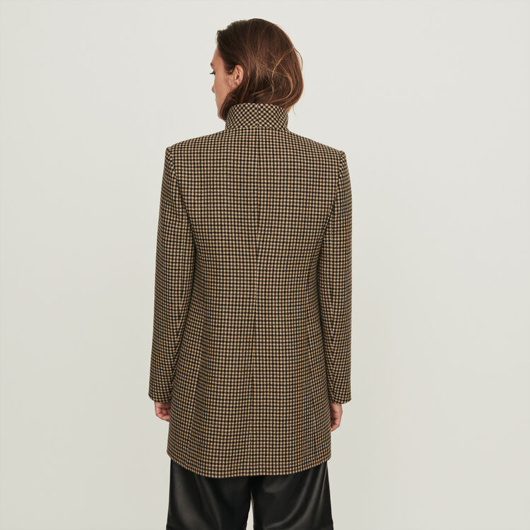 Plaid coat : Winter collection color Brown