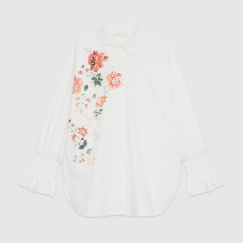 Floral print shirt : New in : Summer Collection color WHITE