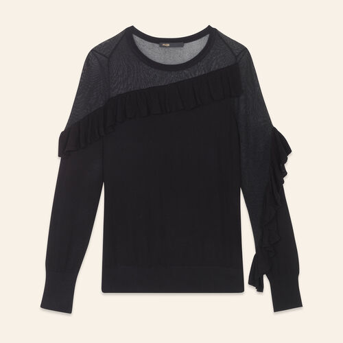 Fine jumper with frills - Knitwear - MAJE
