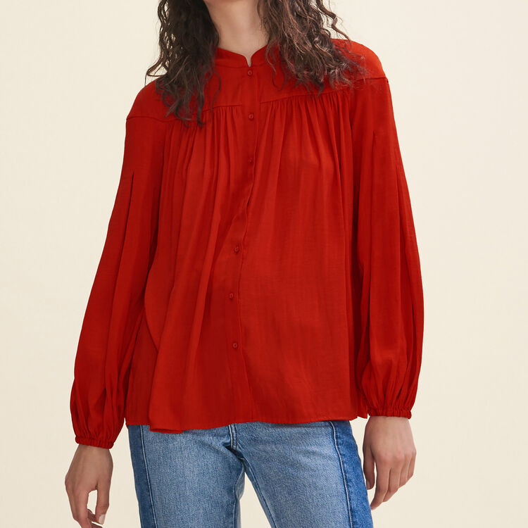 Floaty crepe shirt : Tops color Red