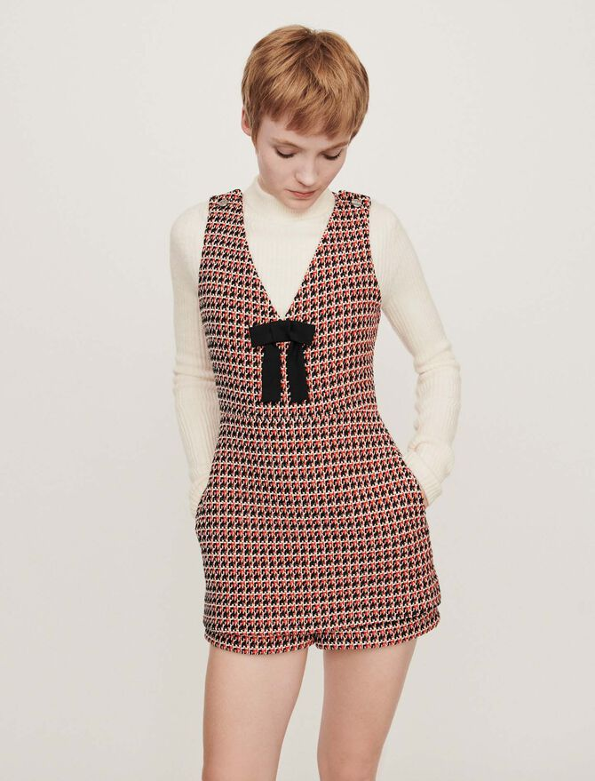 Tweed-style playsuit - Trousers & Jean - MAJE