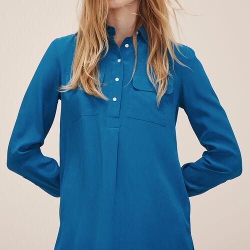 Silk blouse : See all color Khaki