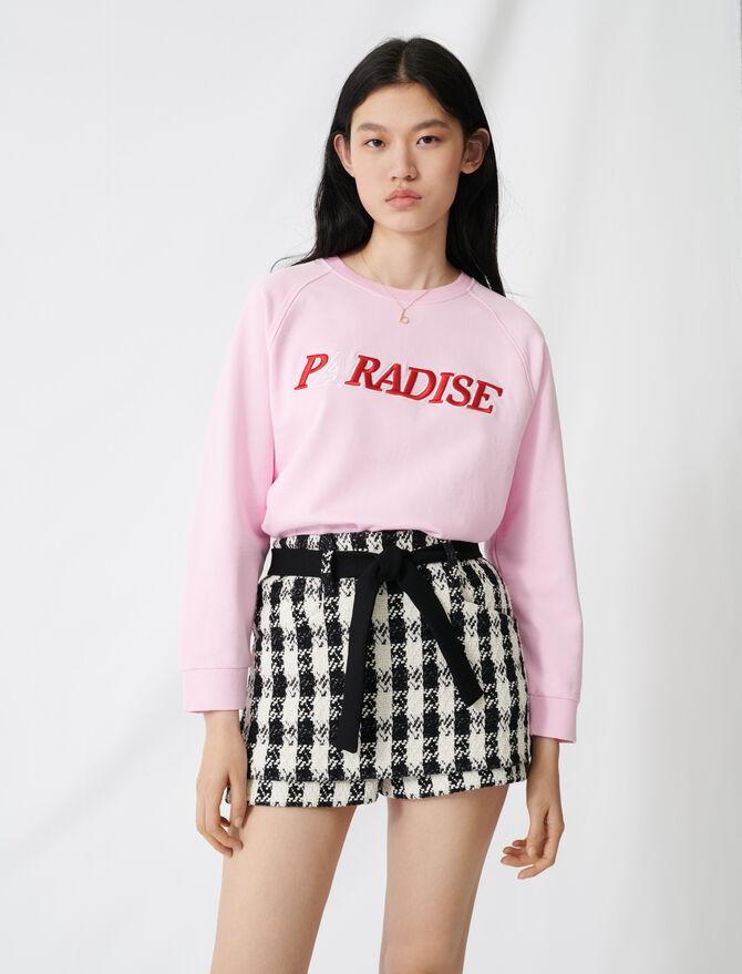 Tweed-style culottes - Skirts & Shorts - MAJE
