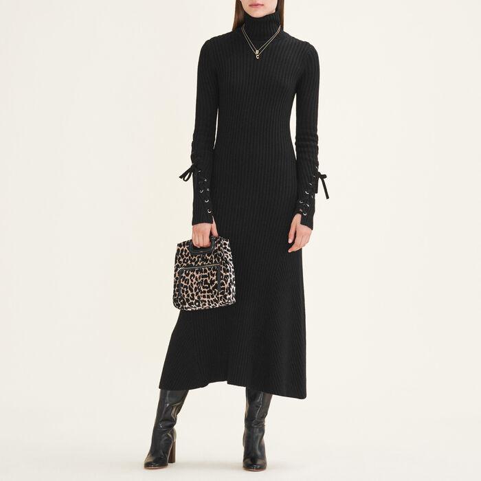 Long tube-knit dress - Dresses - MAJE
