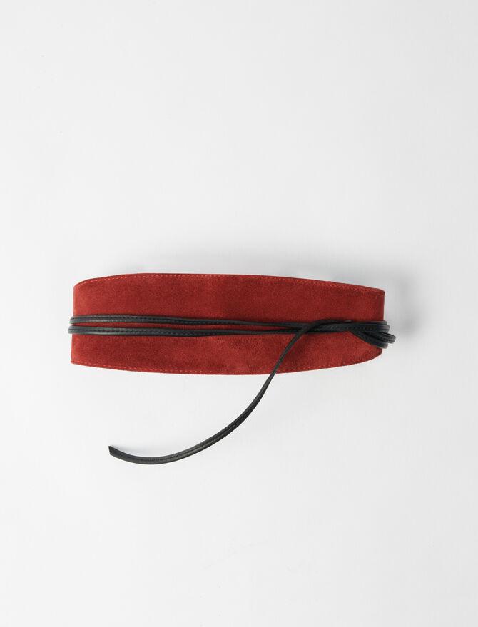 Suede tie belt -  - MAJE