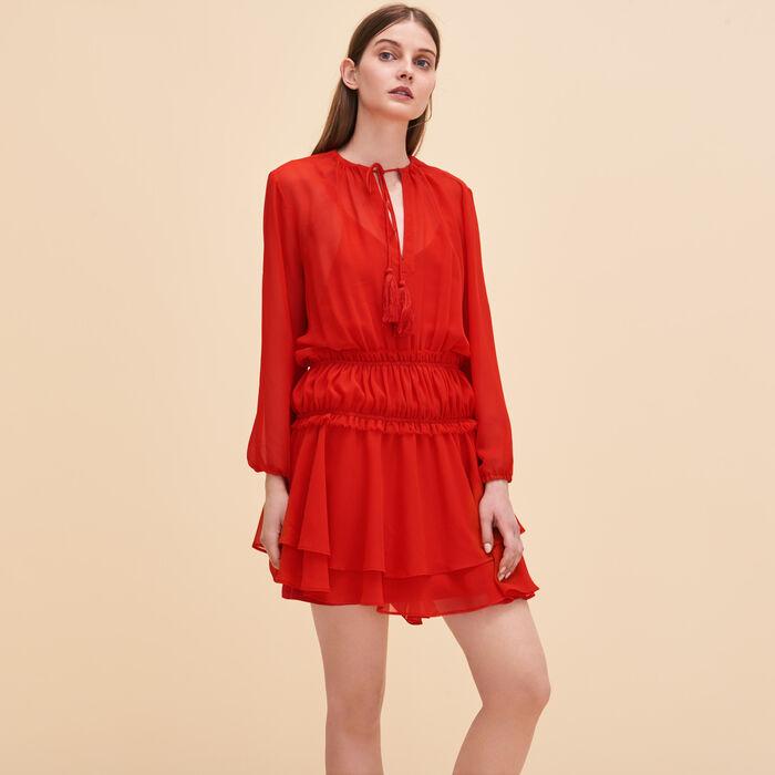 Short dress with frills - New markdown - MAJE