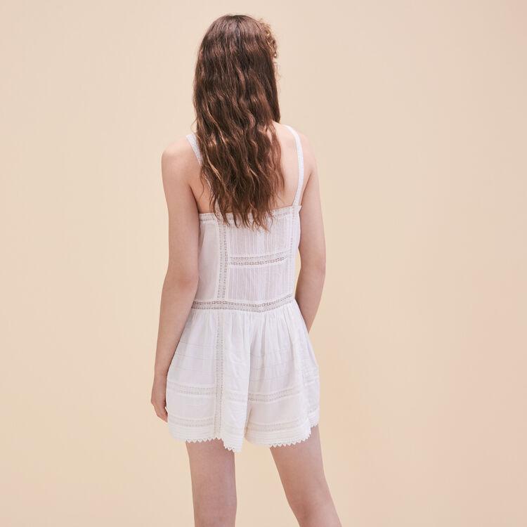 Lace playsuit : Low Prices color Ecru