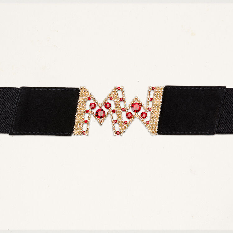 Wide elasticated belt : Accessoires color Black 210
