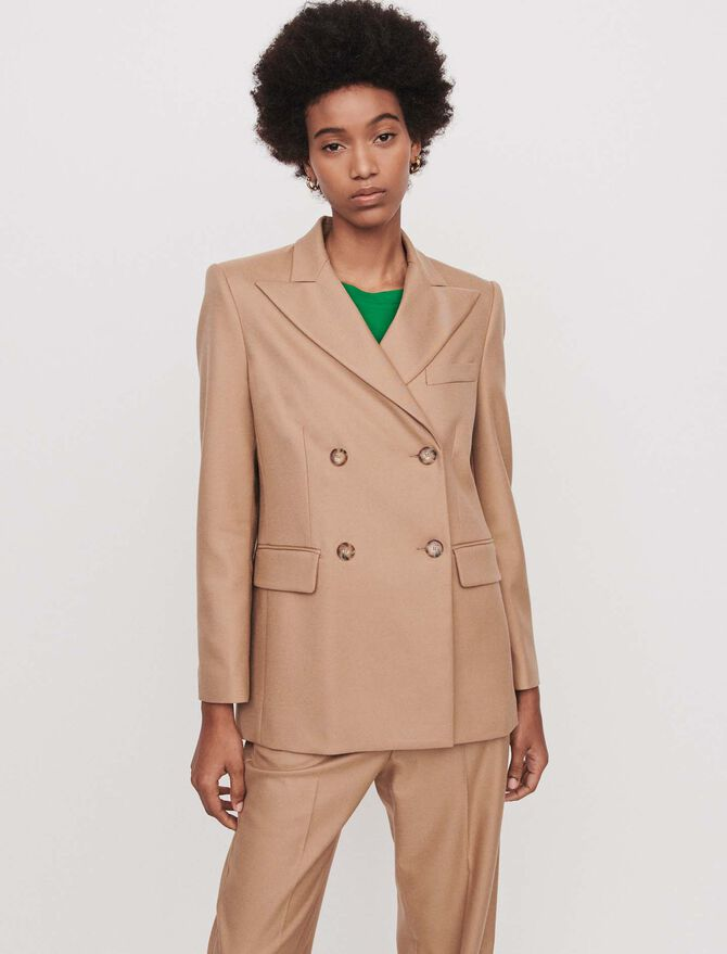 Staright-cut double breasted jacket - Jackets & Blazers - MAJE
