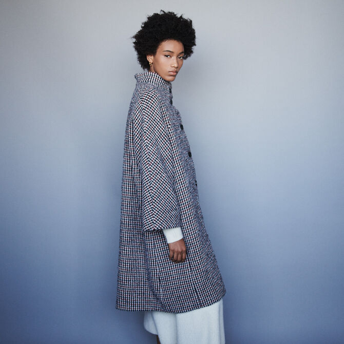 Long wool houndstooth coat - staff private sale 20 - MAJE