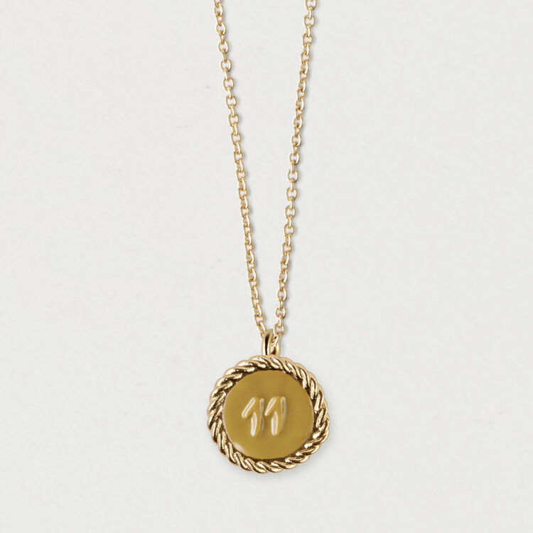 Number 11 medallion : Jewelry color GOLD