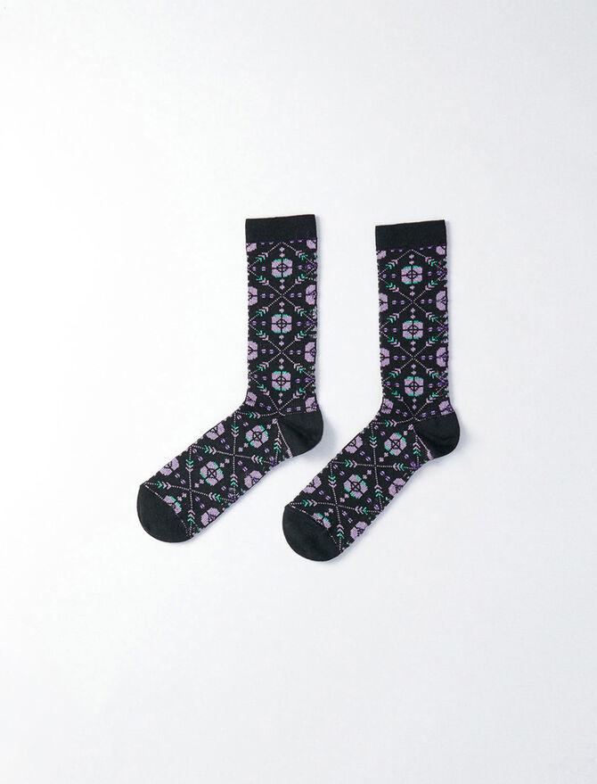 Lurex and cotton socks -  - MAJE