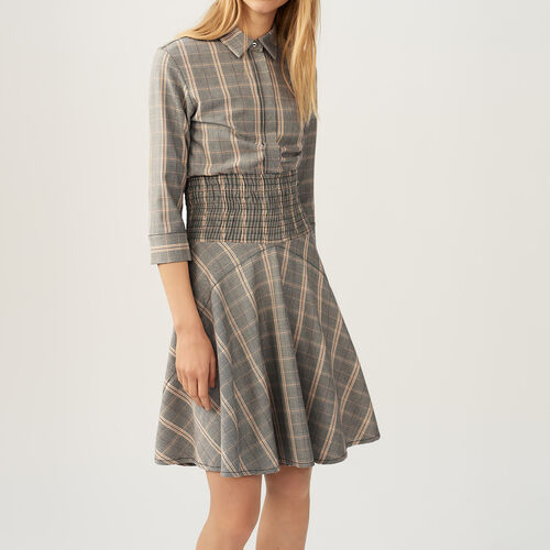 Checked dress - Pre-collection - MAJE