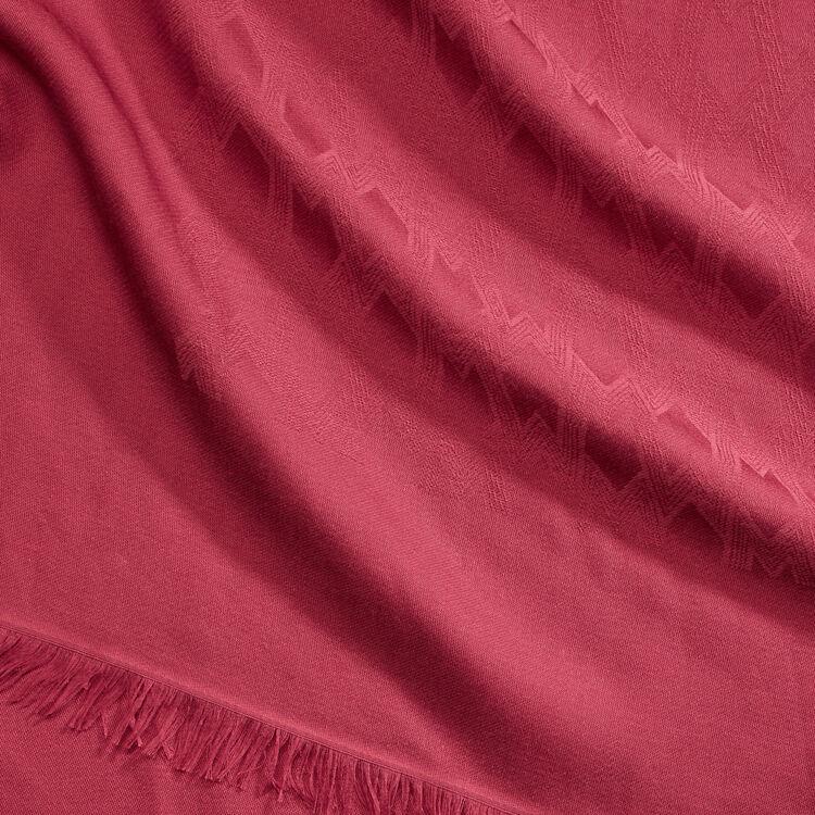 Cotton blend shawl : Shawls & Ponchos color Raspberry