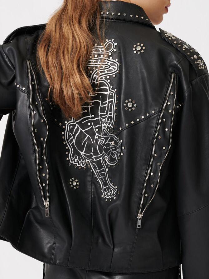 Western leather studded jacket - Coats & Jackets - MAJE