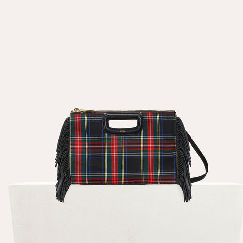 M Duo clutch in patent leather : Tartan color Black 210