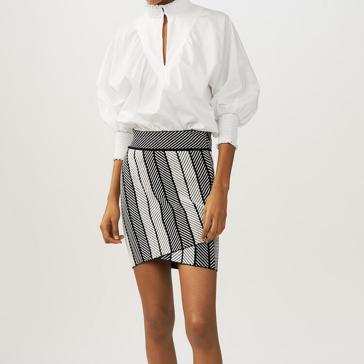 Knit wrap skirt : Skirts & Shorts color Multico