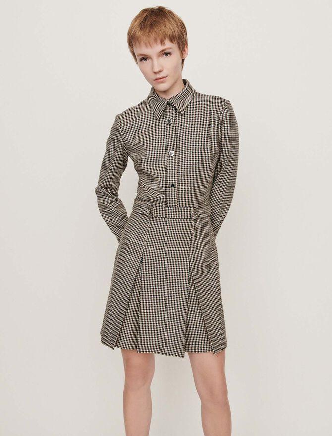 Plaid jacket-style coat -  - MAJE