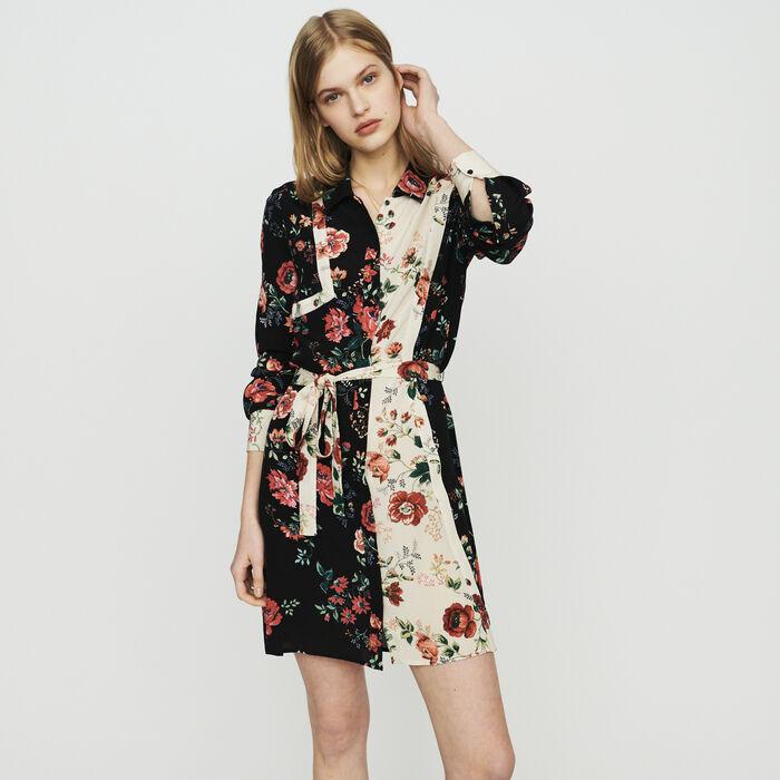 d097ed7f1fac RILLER Floral print shirt-dress - Dresses - Maje.com