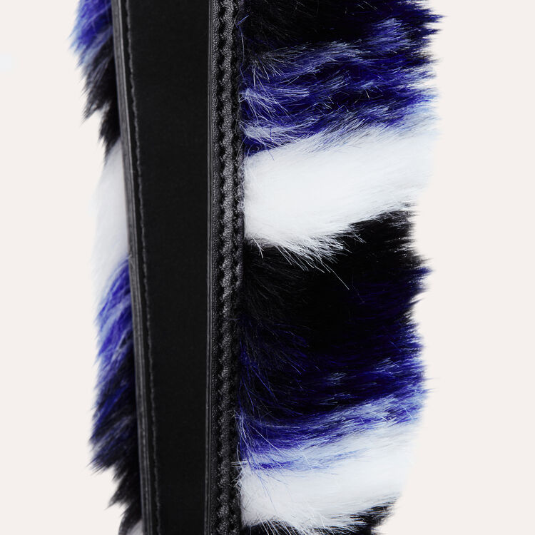 Detachable leather & faux fur strap : Accessoires color Multico