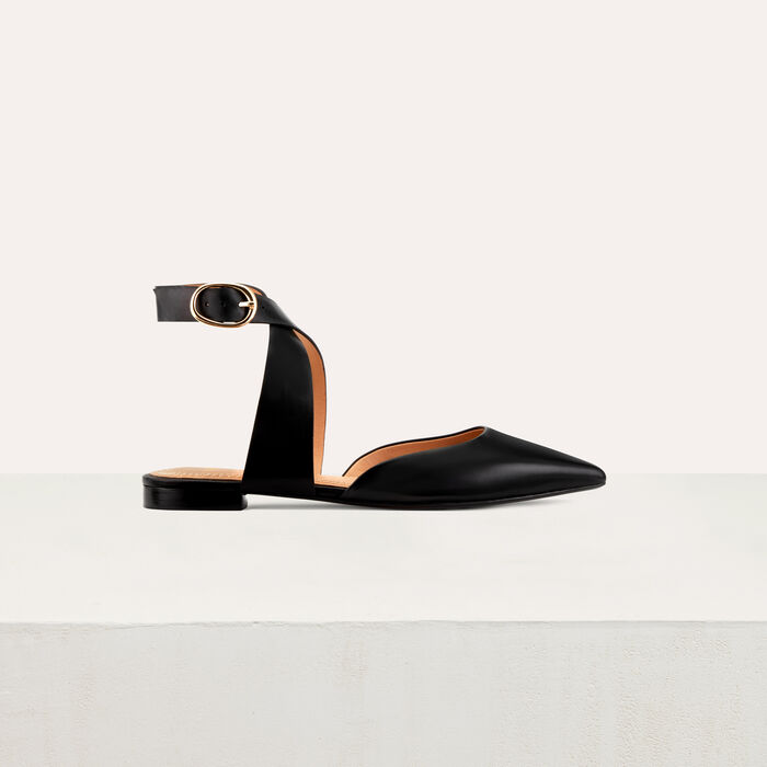 Pointed toe mules : Flat shoes color Black 210