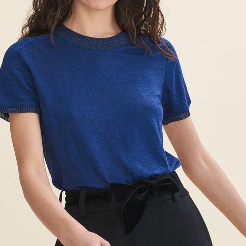 Linen T-shirt : T-Shirts color Navy