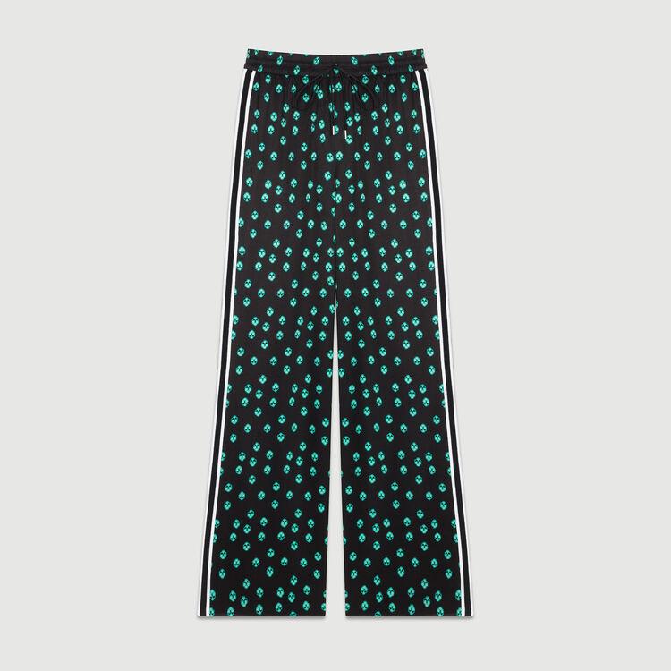 Draped printed pants : Trousers color PRINTED