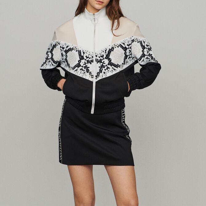 Zipped sweatshirt with python print band - See all - MAJE