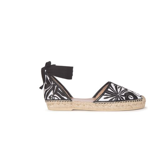 Embroidered espadrilles with laces : Accessories color White