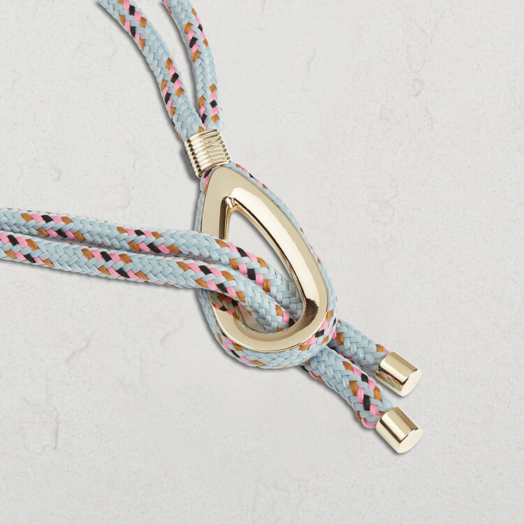 Rope belt with jewellery detailing : Accessories color Blue Sky