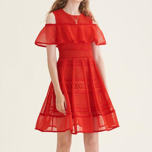 Mesh sleeveless dress - Dresses - MAJE