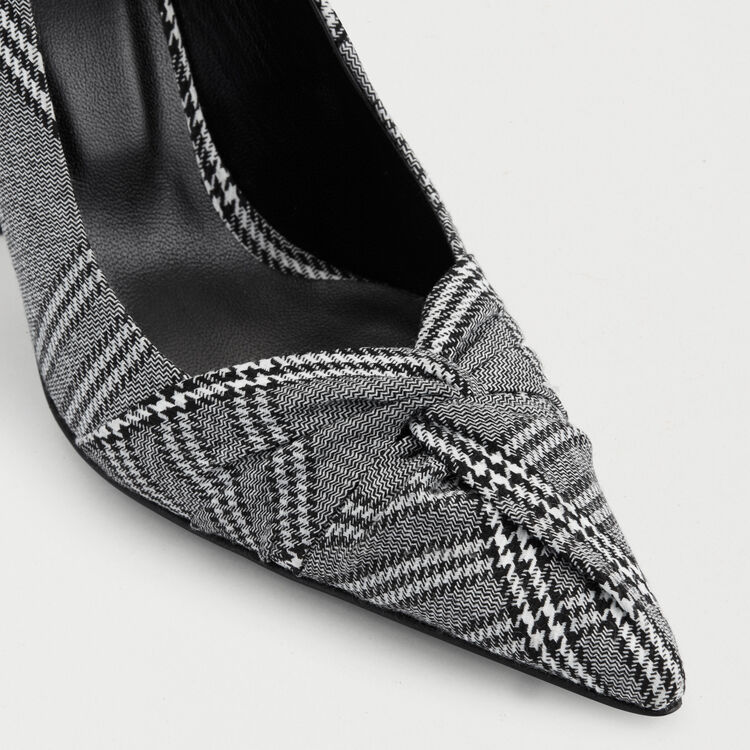 Draped pumps in Prince of Wales plaid : Slipper color CARREAUX
