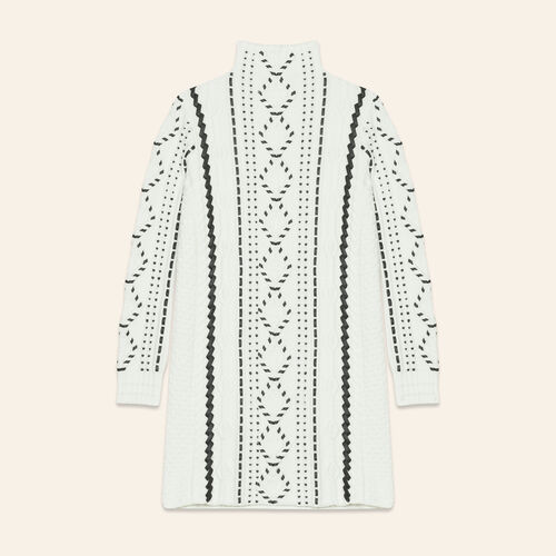 Cable knit dress - null - MAJE