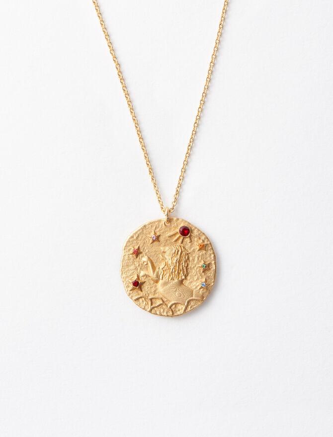 Lion zodiac sign necklace -  - MAJE