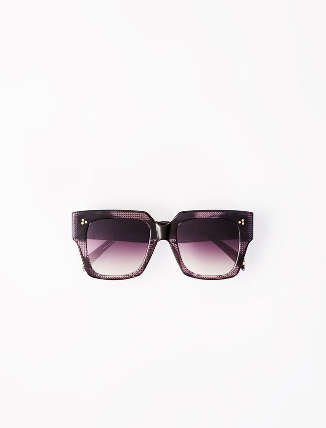 Brown square sunglasses -  - MAJE