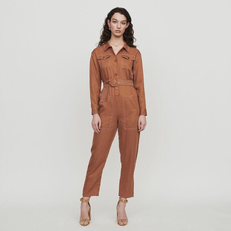 Shirt jumper : Trousers & Jeans color Terracota