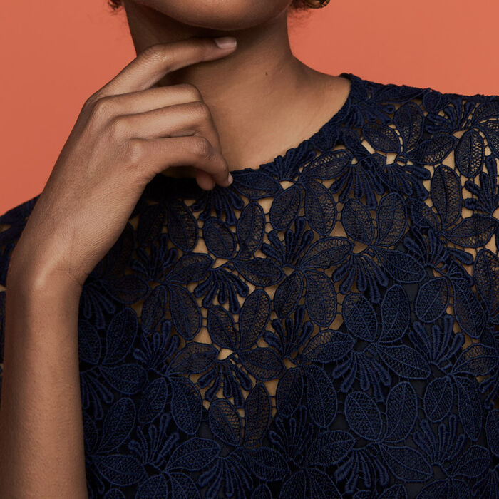 Straight lace dress : Dresses color Navy