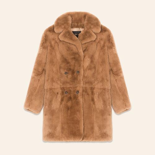 Rabbit coat : Coats color Beige
