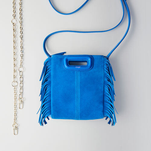 Mini two-toned suede M bag with chain : M Mini color ROUGE