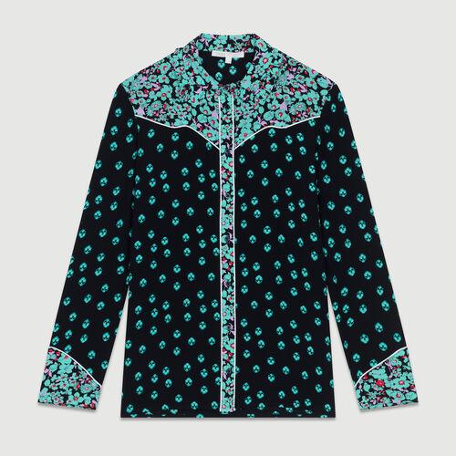 Printed draped shirt : Shirts color PRINTED