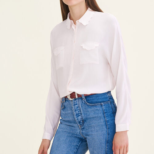 Silk blend shirt : Tops color Pink