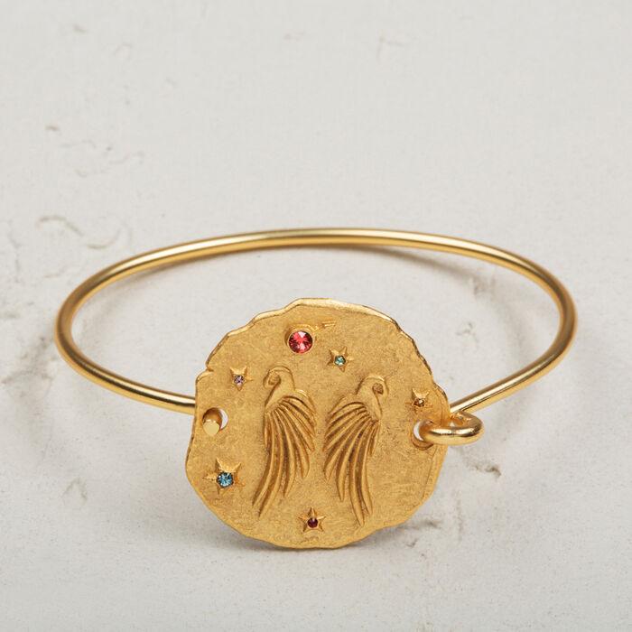 Bracelet with hammered medallion -  - MAJE