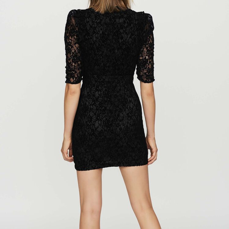 Lace dress with velvet : Dresses color Black 210