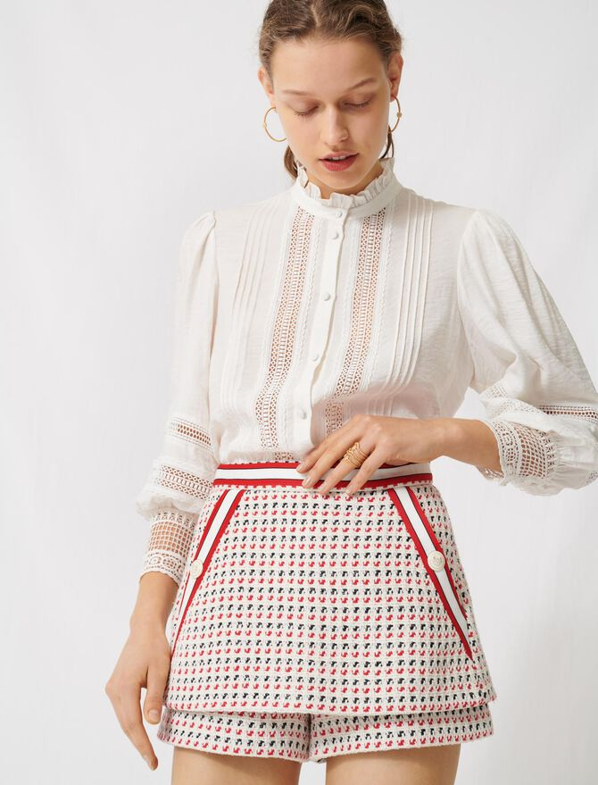 Short tweed-style trompe-l'œil skirt - All the collection - MAJE