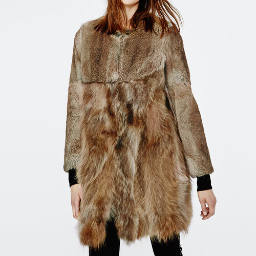 Rabbit fur coat : Coats color Natural