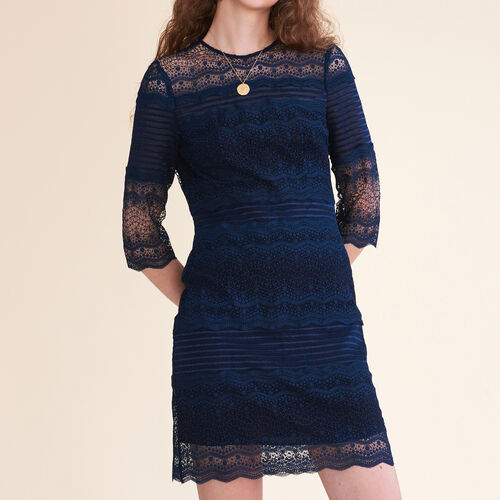 Two-tone lace dress - Dresses - MAJE
