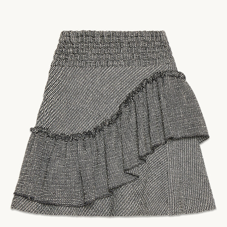 Frilled jacquard skirt : Low Prices color Jacquard