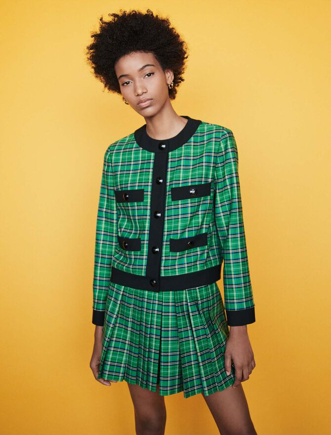 Plaid jacket with 4 pockets - Blazers - MAJE