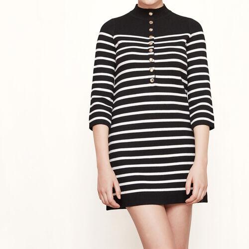 Sailor-style knit dress : Dresses color Black 210