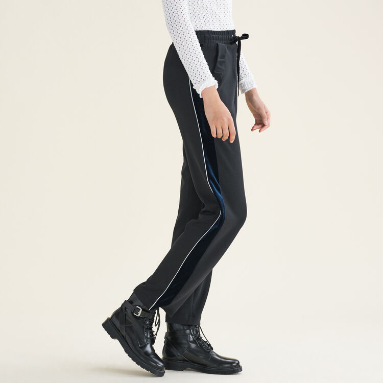 Straight-cut jogging-style trousers : Trousers & Jeans color Black 210